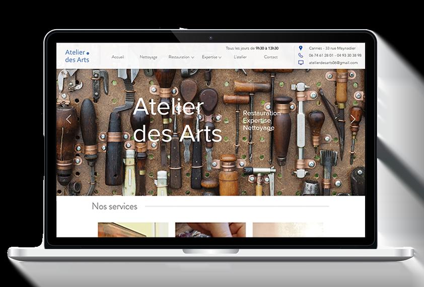 Site vitrine L'Atelier des Arts