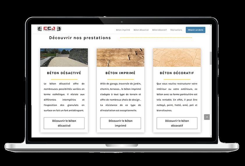 Site CCJ Artisan béton